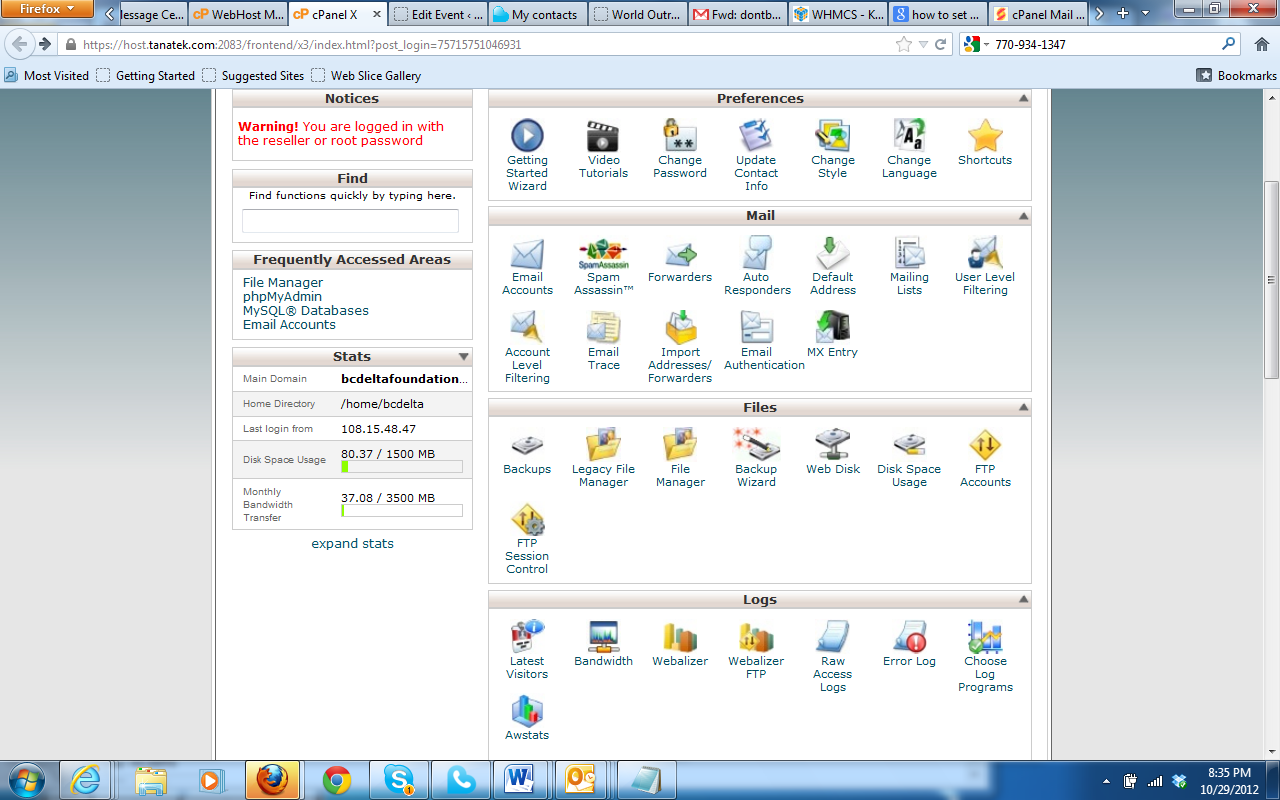 eMail - cPanel